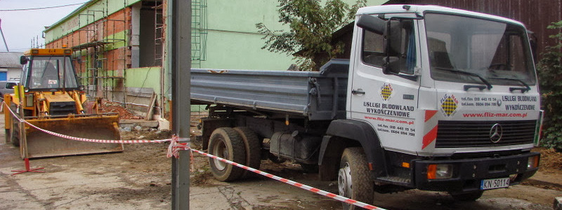 Wywóz gruzu i odpadów budowlanych po zakończonych pracach remontowych